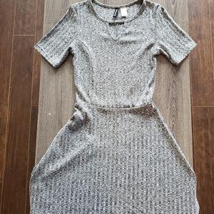 LIKE NEW - Grey Marl A-Line Dress | 4